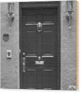 Historic Lion Door Wood Print