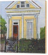 Historic Louisiana Cottage Wood Print