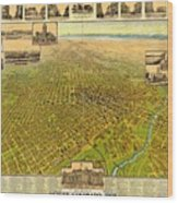 Historic Map Of Denver Wood Print