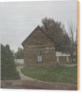 Historic Mormon Cabin Wood Print