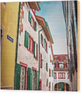 Historic Old Town Basel Switzerland  Wood Print