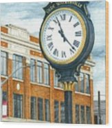 Historic Olde Walkerville Clock Wood Print