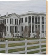 Historic Plantation Wood Print
