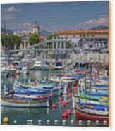 Historic Port Of Nice, France Wood Print