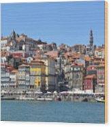 Historic Porto Riverfront Wood Print