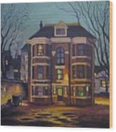 Historic Property South End Haifax Wood Print