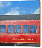 Historic Red Passenger Car, Austin & Wood Print