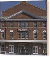 Historic Roanoke City Market Building Wood Print