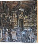 Historic Saddlery Shop - Montana Territory Wood Print