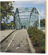 Historic South Washington St. Bridge Binghamton Ny Wood Print