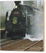 Historic Steam Train Wood Print