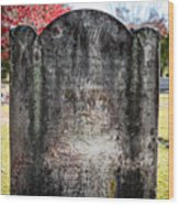 Historic Stone - Quaker Cemetery Wood Print
