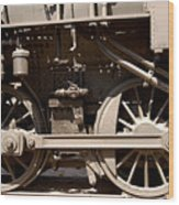 Historic Trains Wood Print