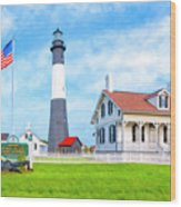 Historic Tybee Island Light Station Wood Print