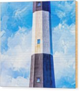 Historic Tybee Island Lighthouse Wood Print