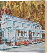 Historic Valley Green Inn Wood Print by Joyce A Guariglia
