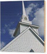 Historic White Church Wood Print