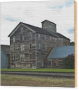 Historical Barron Wheat Flour Mill In Oakesdale Wa Wood Print
