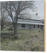 Historical Concho House Wood Print