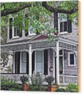 Historical Home In Wilmington Wood Print