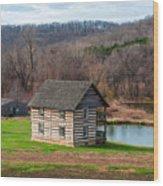 Historical House Wood Print