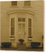 Historical Housing Fort Leavenworth Wood Print