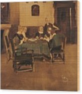 Historical Interior Wood Print