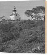 Historical Lighthouse- Point Loma Wood Print