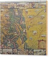 Historical Map Of Early Colorado Wood Print