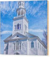 Historical Old First Church Wood Print