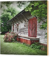 Historical Train Station In Belle Mina Alabama Wood Print