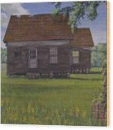Historical Warrenton Farm House Wood Print