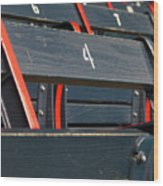 Historical Wood Seating At Boston Fenway Park Wood Print by Juergen Roth