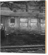 History Train Wood Print