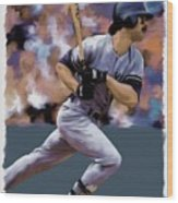 Hit Man  Don Mattingly  Wood Print
