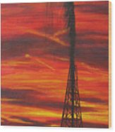 Hit Oil Wood Print
