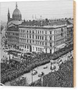 Hitler Enters Vienna Wood Print
