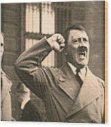 Hitler The Orator Wood Print by Al Bourassa