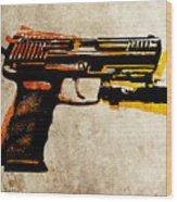 Hk 45 Pistol Wood Print by Michael Tompsett