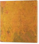 Hkf Yellow Planet Surface Wood Print