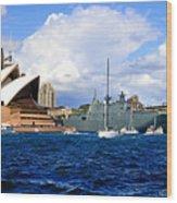 Hmas Adelaide Helps Sydney Celebrate Wood Print