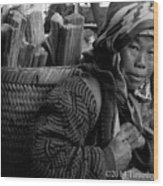 H'mong Woman Wood Print