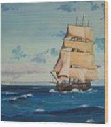 Hms Bounty On Lake Superior Wood Print