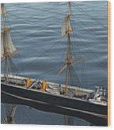 Hms Warrior 1860 - Stern To Bow Ocean Wood Print