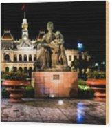 Ho Chi Minh City Hall At Night Wood Print