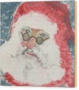 Ho Ho Ho Santa Wood Print