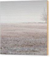 Hoarfrost Pasture Wood Print
