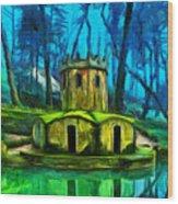 Hobbit's Castle Wood Print