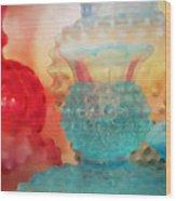 Hobnail Glassware Wood Print