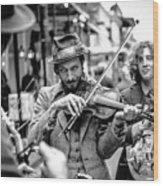 Hobo Ragtime Band Wood Print